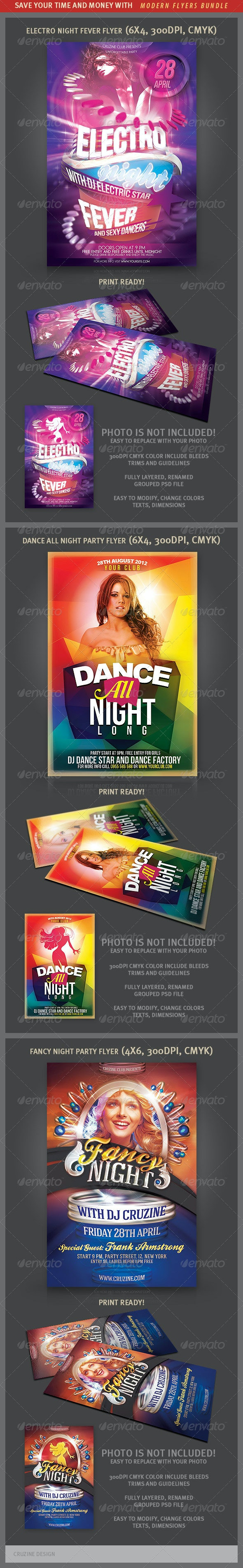 Modern and Creative Flyer Bundle - Clubs & Parties Events