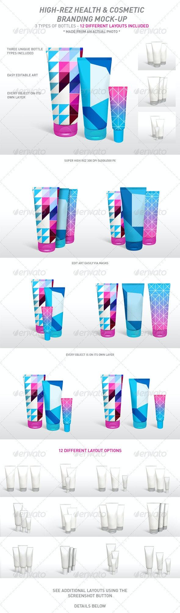 Health & Cosmetic Product Branding Mock-Ups - Beauty Packaging