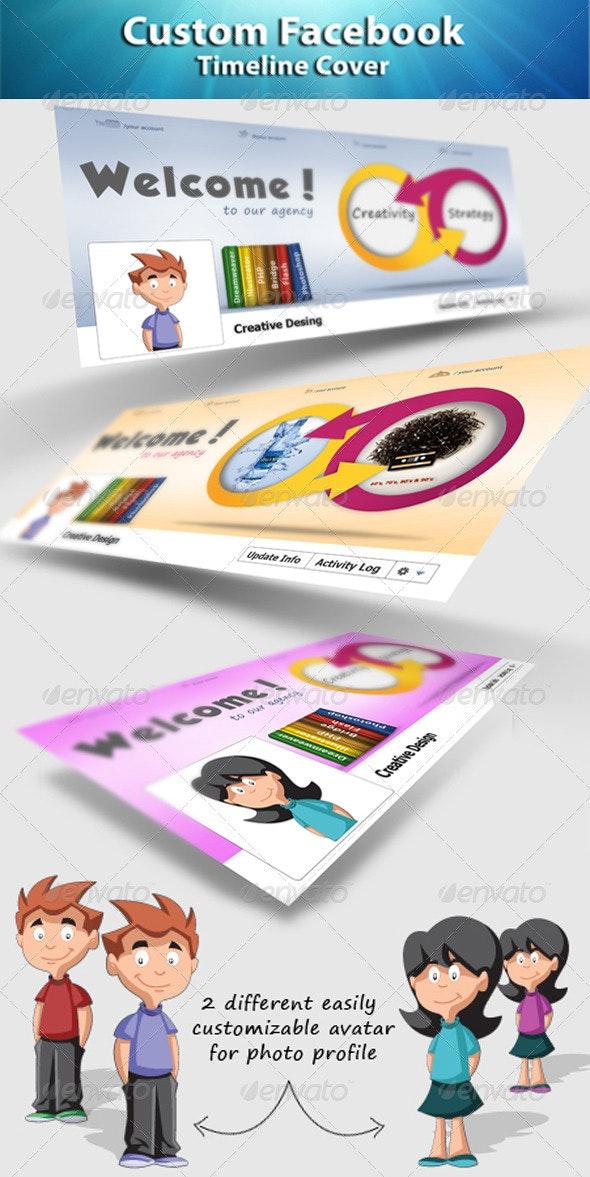 Creative Agency Timeline Cover - Facebook Timeline Covers Social Media