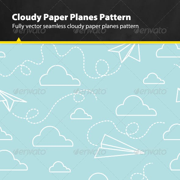 Cloudy Paper Planes Pattern
