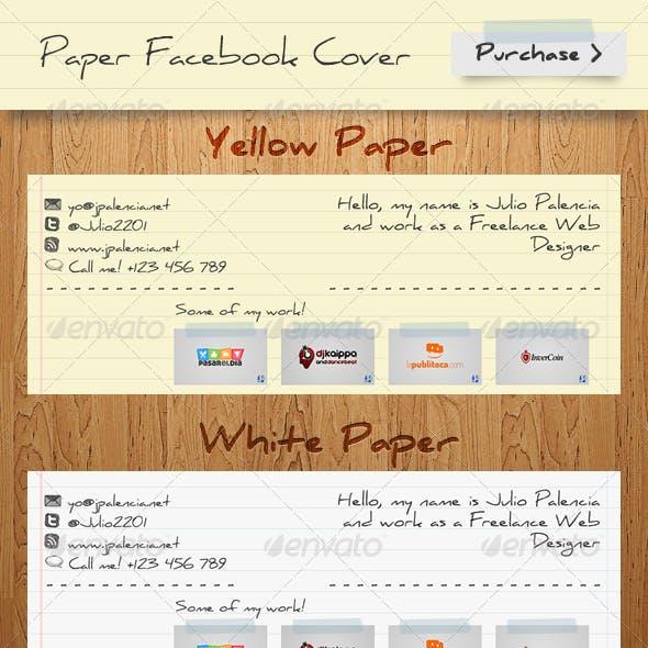 Paper FB TimeLine Cover