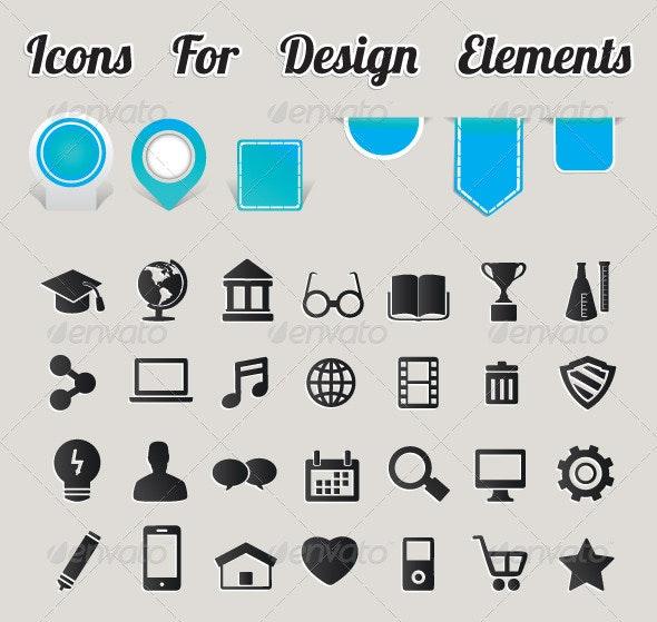 Icons For Design Elements - Decorative Symbols Decorative