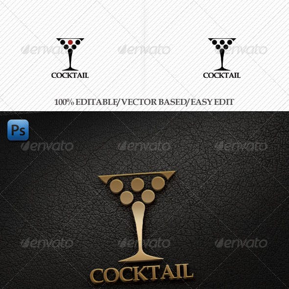 Cocktail Logo Template