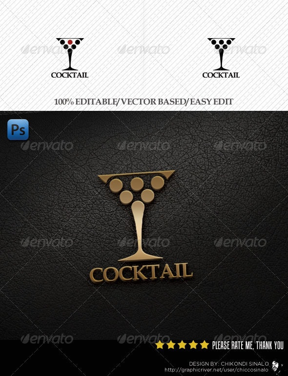 Cocktail Logo Template - Objects Logo Templates