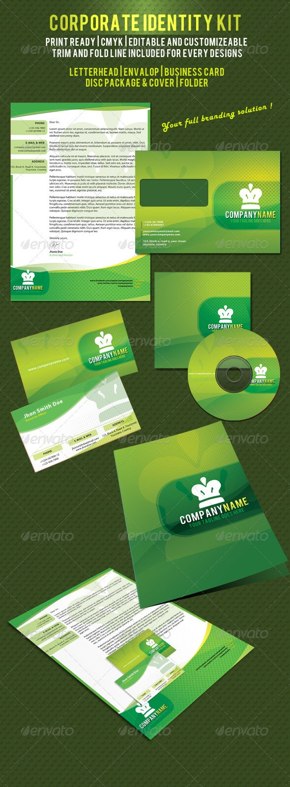 Multipurpose Corporate ID Pack 1 - Stationery Print Templates