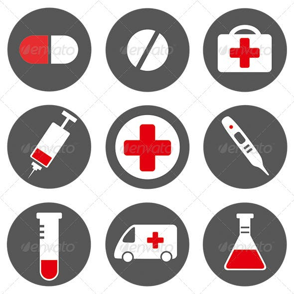 9 Vector Medical Icons