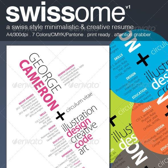 Swiss Style Minimalistic & Creative Resume