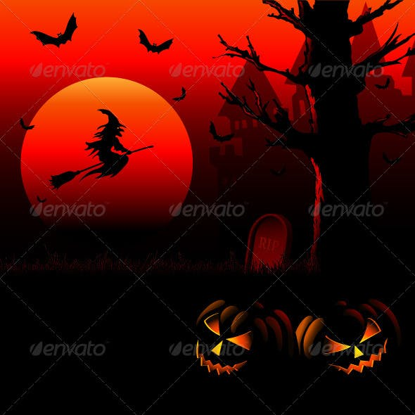 Halloween_background_sunset