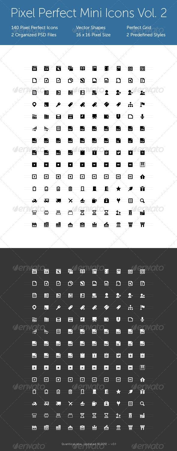 Pixel Perfect Mini Icons Vol. 2 - Web Icons