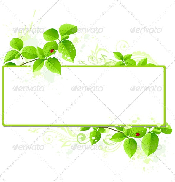Green Banner - Backgrounds Decorative