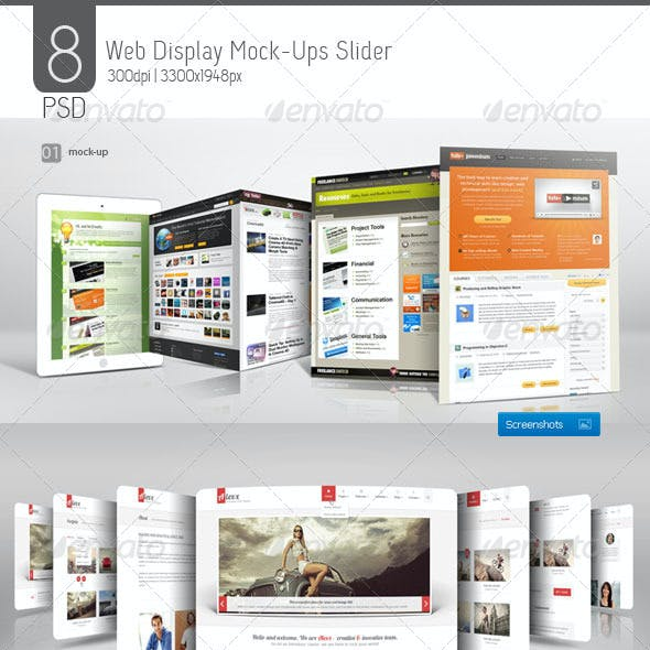 Web Display Mock-Ups Slider