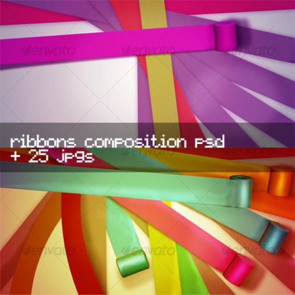 Stylish Ribbons Editable Composition
