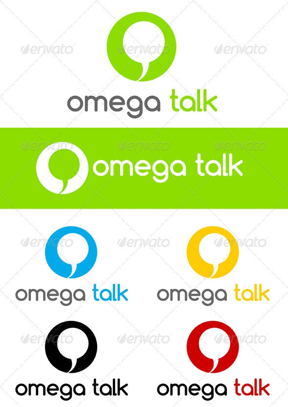 Omega Talk - Symbols Logo Templates