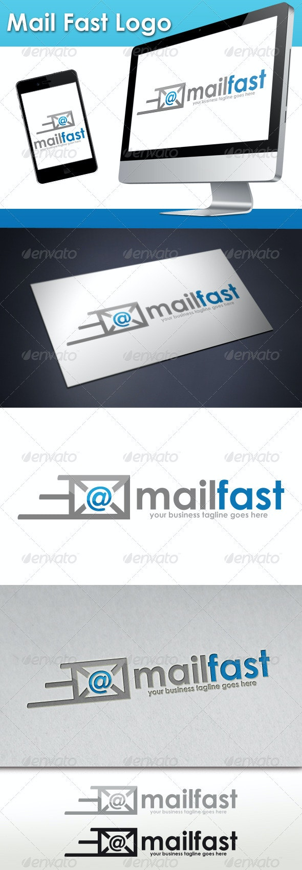Mail Fast Logo - Objects Logo Templates