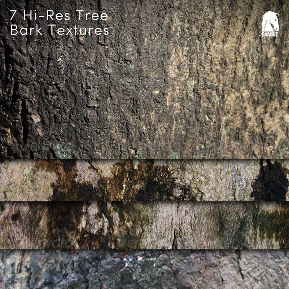 7 Hi-Res Tree Bark Backgrounds