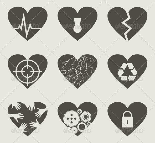 Collection heart2 - Miscellaneous Vectors