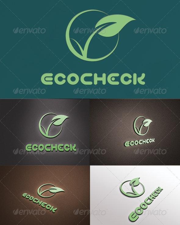 EcoCheck Elegant Logo - Nature Logo Templates