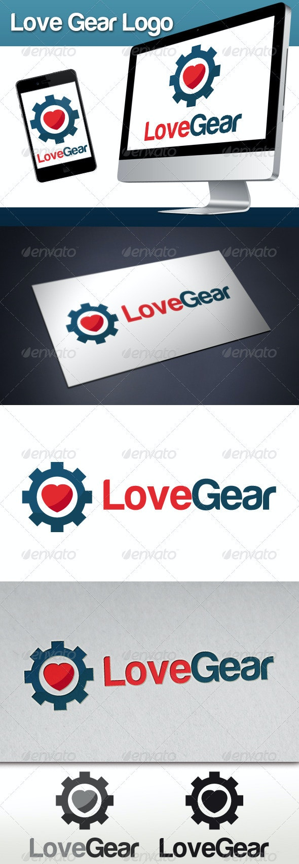 Love Gear Logo - Objects Logo Templates
