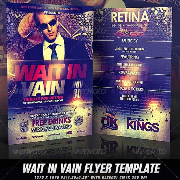 Wait In Vain Flyer Template