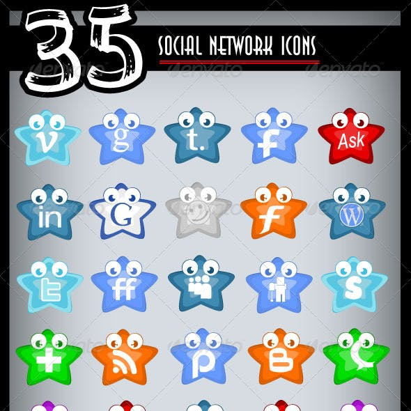 Social Network Icons Pack Three