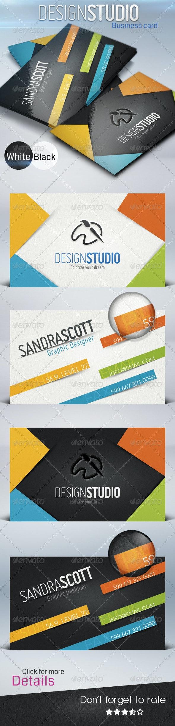 Design Studio card - Creative Business Cards