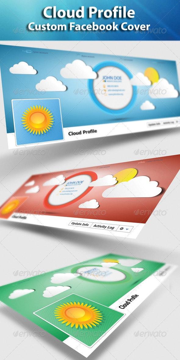 FB Cloud Profile - Facebook Timeline Covers Social Media