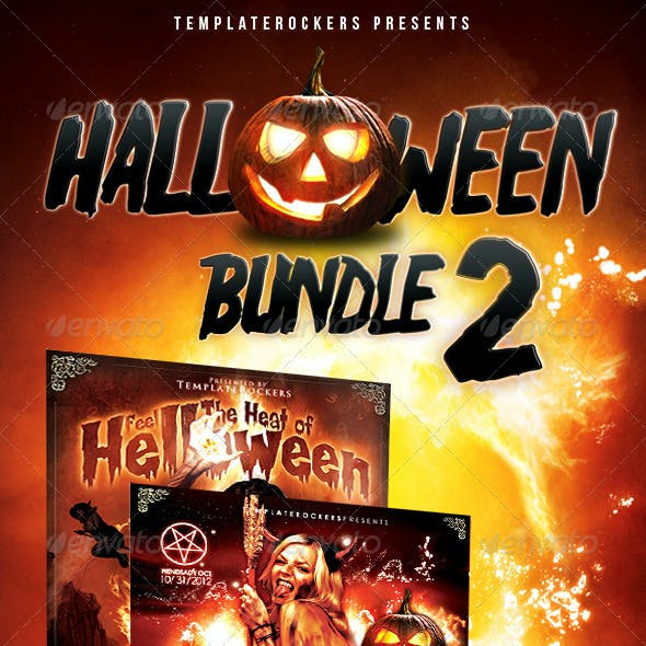 Halloween Party Flyer Bundle 2