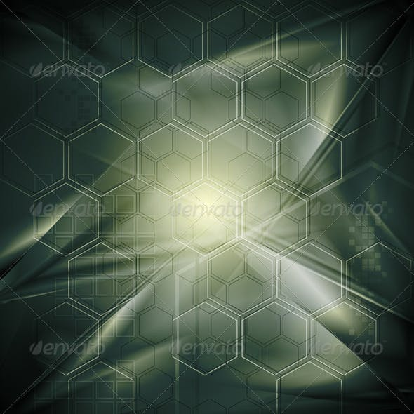 Abstract tech background with geometrical elements