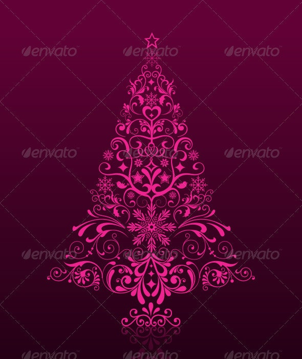 Ornament Christmas Tree - Decorative Vectors