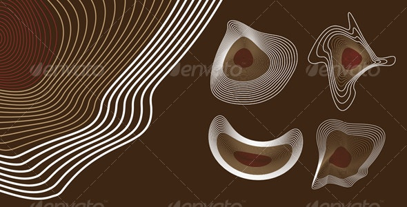 Hypnotic Abstract Shapes - Backgrounds Decorative