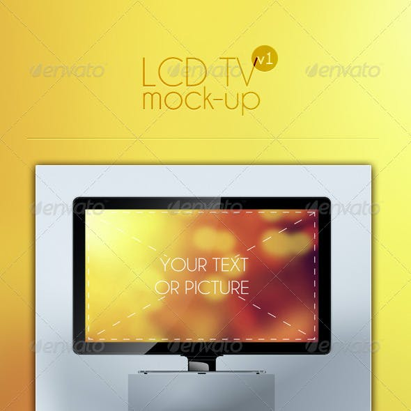 LCD TV Mock-Up