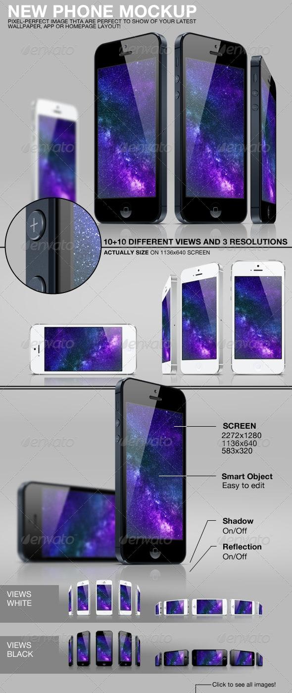 New Phone Mockup - Multiple Displays