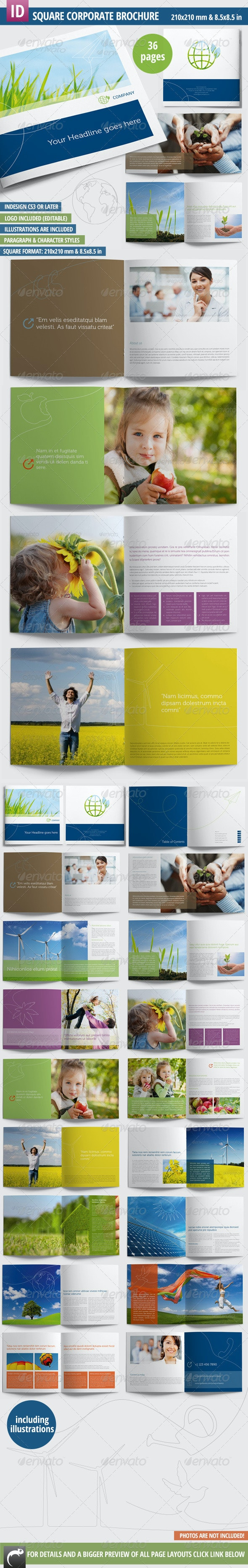 Square Corporate / Image Brochure - 36 Pages - Corporate Brochures