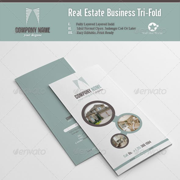 Real Estate Business Tri-Fold
