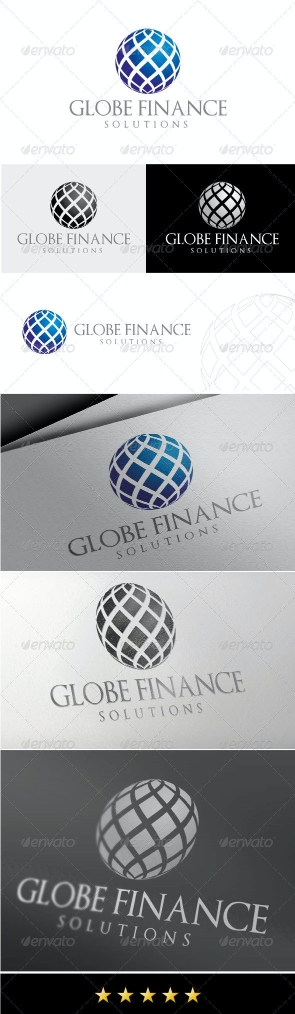 Globe Finance Logo - Vector Abstract