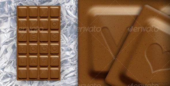 Chocolate Bar - Objects Illustrations