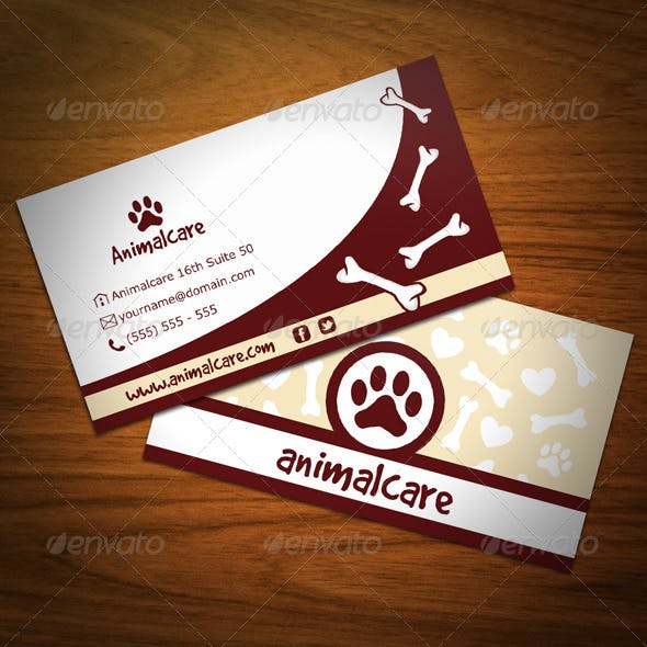 Pet Business Card Templates Designs