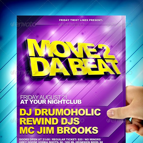 Move 2 Da Beat Flyer Template