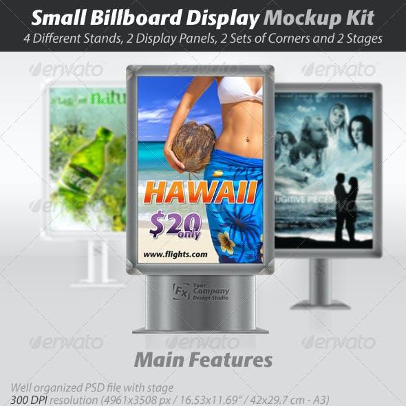 Small Billboard Display Mockup Kit