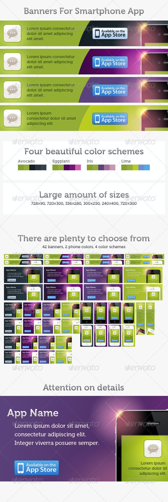 Smart Phone App Banner Pack - Banners & Ads Web Elements