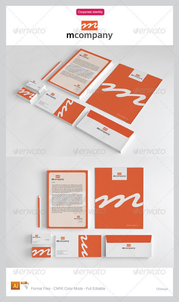 Mcompany Corporate Identity Package - Stationery Print Templates