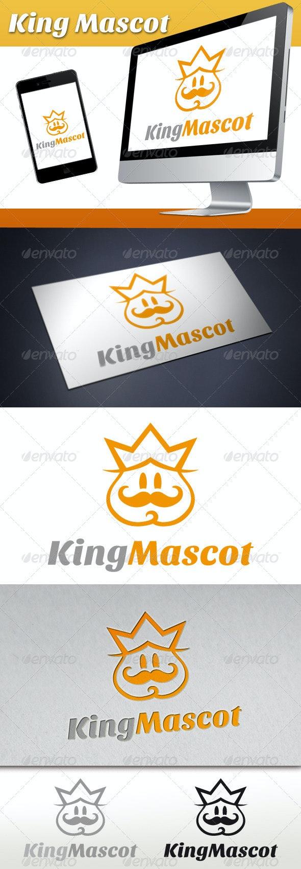 King Mascot Logo - Humans Logo Templates