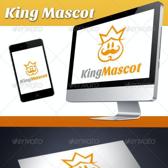 King Mascot Logo