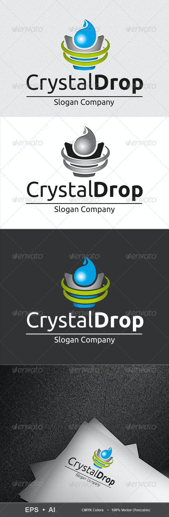 Crystal_Drop_Logo - Nature Logo Templates