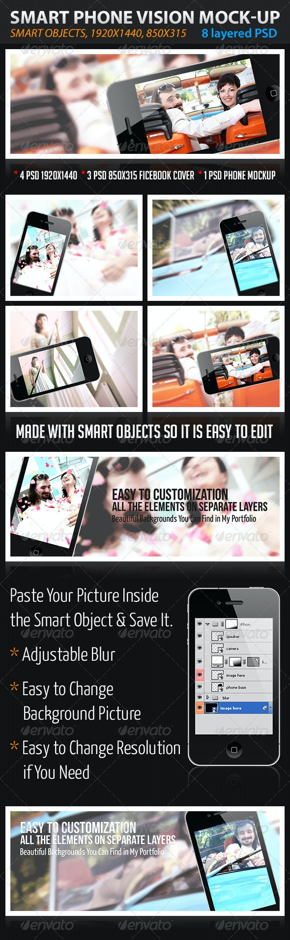 Smart Phone Vision - Tech / Futuristic Photo Templates