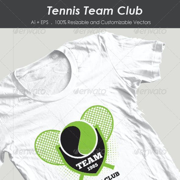 Tennis Team Club Tshirt