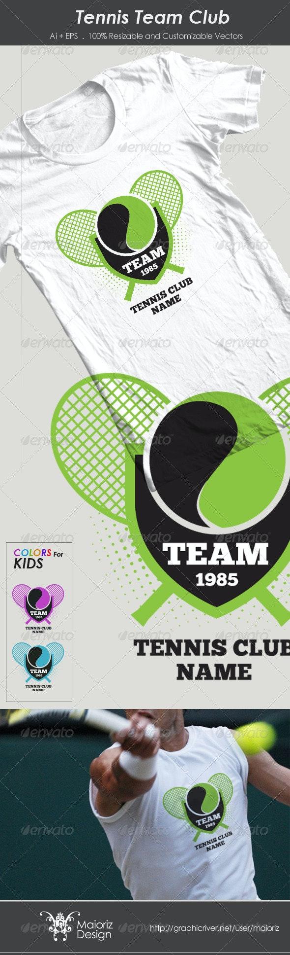 Tennis Team Club Tshirt - Sports & Teams T-Shirts