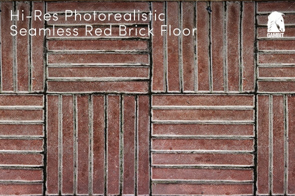 Hi-Res Seamless Red Brick Floor - Stone Textures