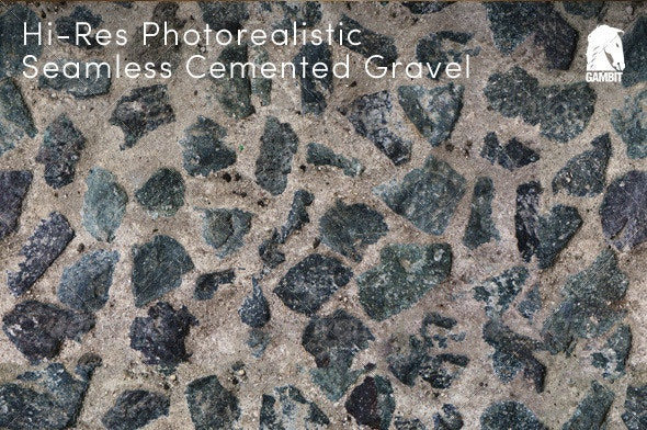 Hi-Res Seamless Cemented Gravel Texture - Concrete Textures