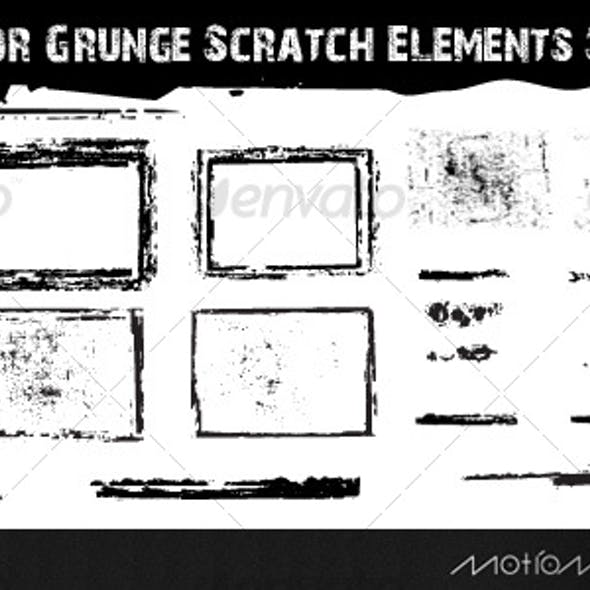 24 Vector Grunge Scratch Elements Set